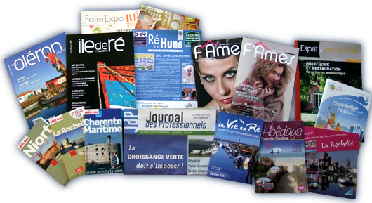 Les publications de Rhéa Marketing, des supports de communication en Charente-Maritime