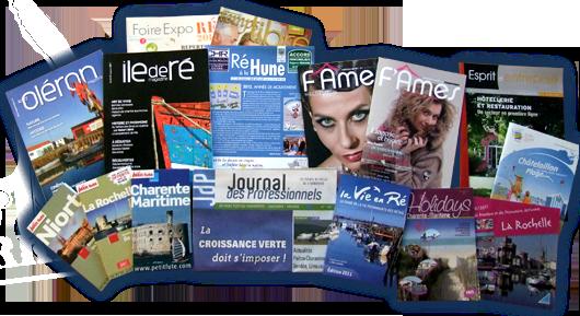Les publications de Rhéa Marketing, des supports de communication en Charente-Maritime