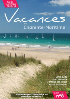 Vacances en Charente-Maritime, support publicitaire pour les touristes par Rhéa Marketing
