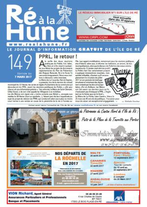 Journal gratuit Ré à la Hune n° 149