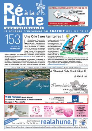 Journal Ré à la Hune n° 153, publicité